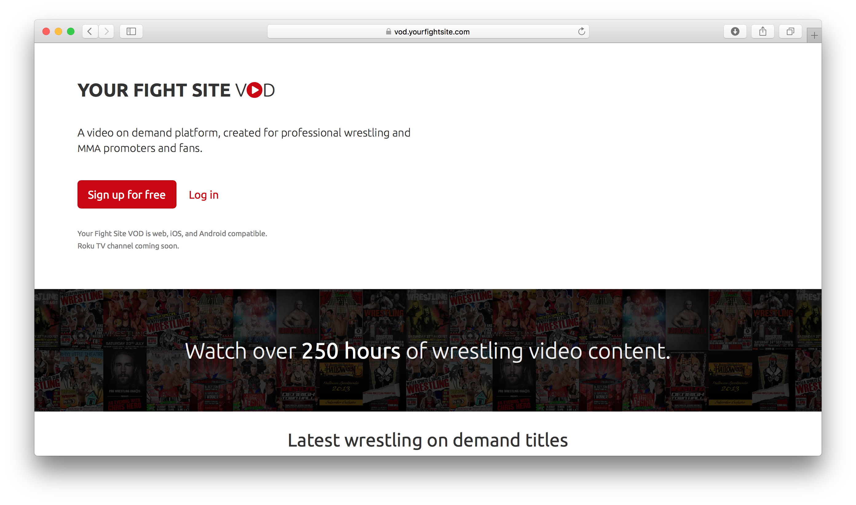 Your Fight Site VOD website screen-shot